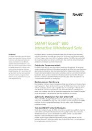 SMART Board™ 800 Interactive Whiteboard Serie - stork interaktive ...