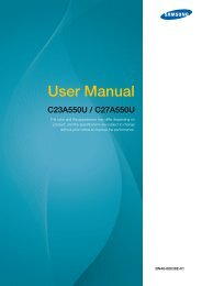 Samsung 27''Série5 Moniteur station d'accueil C27A550 (LC27A550US/EN ) - Manuel de l'utilisateur 4.07 MB, pdf, Anglais
