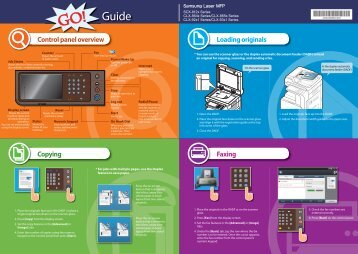 Samsung Copieur A4/A3 SCX-8128NA (SCX-8128NA/SEE ) - Guide rapide 0.01MB, pdf, Anglais