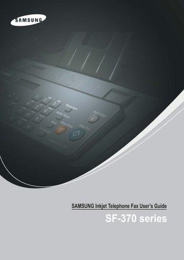 Samsung 3 cpm Fax laser mono SF-375TP (SF-375TP/XEF ) - Manuel de l'utilisateur 4.36 MB, pdf, Anglais