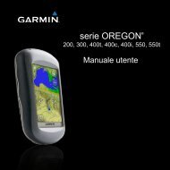 Garmin Oregon® 200 - Manuale Utente