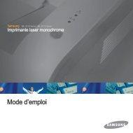 Samsung ML-2510 (ML-2510/SEE ) - Manuel de l'utilisateur 5.09 MB, pdf, Français