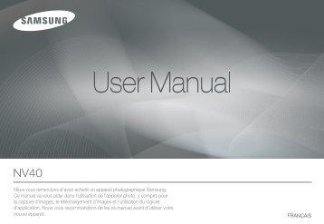 Samsung NV40 (EC-NV40ZBBA/E2 ) - Manuel de l'utilisateur 11.32 MB, pdf, Français