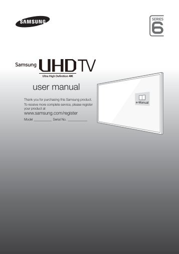 Samsung TV LED 55'', UHD / 4K, Smart TV, 1000PQI, Design Metal - UE55JU6410 (UE55JU6410UXZF ) - Guide rapide 11.97 MB, pdf, Anglais, NÉERLANDAIS, Français, ALLEMAND