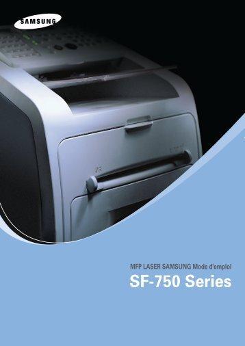 Samsung SF-755P (SF-755P/XEF ) - Manuel de l'utilisateur 10.15 MB, PDF, Français
