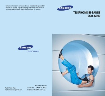 Samsung SGH-A300LA (SGH-A300LA/BOG ) - Manuel de l'utilisateur 1.02 MB, pdf, Français