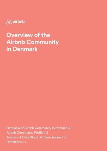 Overview of the Airbnb Community in Denmark
