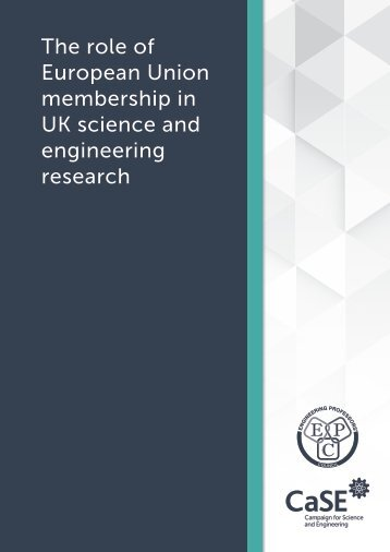 The role of European Union membership in UK science and engineering research