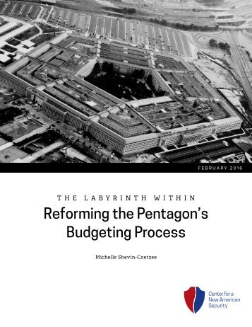 Reforming the Pentagon's Budgeting Process