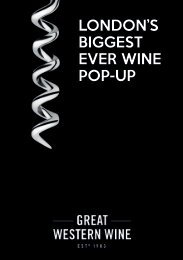 LONDON'S BIGGEST EVER WINE POP-UP