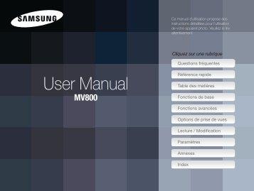 Samsung MV800 (EC-MV800ZBPBE1 ) - Manuel de l'utilisateur 5.17 MB, pdf, Français