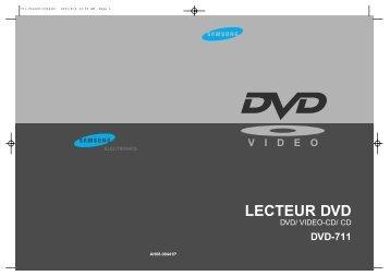 Samsung DVD-711/XEF (DVD-711/XEF ) - Manuel de l'utilisateur 0.54 MB, pdf, Français