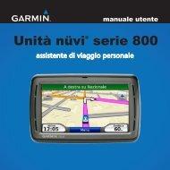 Garmin nuvi 860 - manuale utente