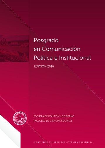 Posgrado en Comunicación Política e Institucional
