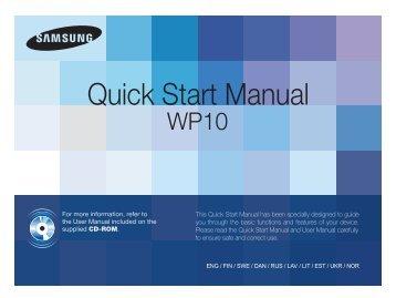 Samsung ST61 (EC-ST61ZZBPBE1 ) - Guide rapide 14.63 MB, pdf, Anglais, DANOIS, Estonien, FINLANDAIS, Llettonie, Lituanien, NORVÈGE, RUSSIE, SUÉDOIS, UKRAINE