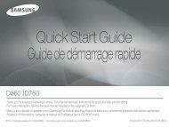 Samsung D860 (EC-D860ZSBB/FR ) - Guide rapide 7.8 MB, pdf, Anglais, Français, Espagnol
