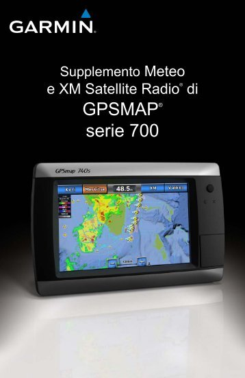 Garmin GPSMAP 720 - Supplemento