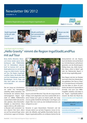 Newsletter Juni 2012 - Initiative Regionalmanagement Region ...