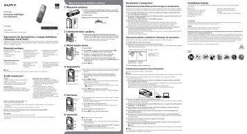 Sony ICD-PX440 - ICD-PX440 Mode d'emploi Polonais