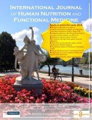 International Journal Human Nutrition Functional Medicine