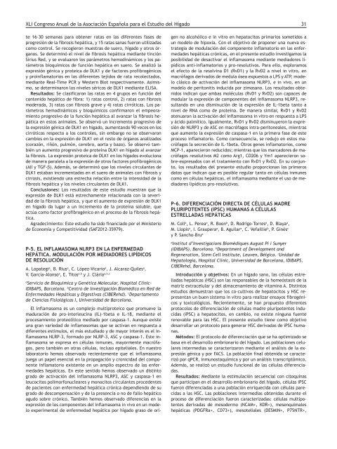 XLI Congreso Anual de la Asociación Española para el Estudio del Hígado