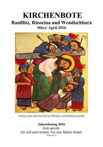 Kirchenbote 2016 März-April