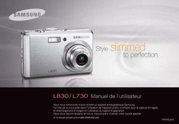 Samsung L830 (EC-L830ZBBA/E1 ) - Manuel de l'utilisateur 9.97 MB, pdf, Français