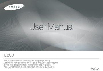 Samsung L200 (EC-L200ZBBA/FR ) - Manuel de l'utilisateur 9.28 MB, pdf, Français