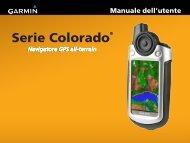 Garmin Colorado® 300 - Manuale dell utente