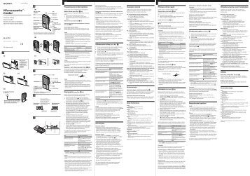 Sony M-673V - M-673V Consignes d'utilisation Slovaque