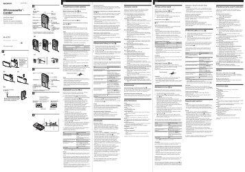 Sony M-673V - M-673V Consignes d'utilisation Polonais