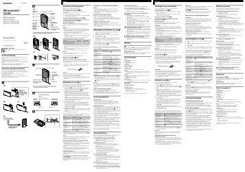 Sony M-670V - M-670V Consignes d'utilisation Néerlandais