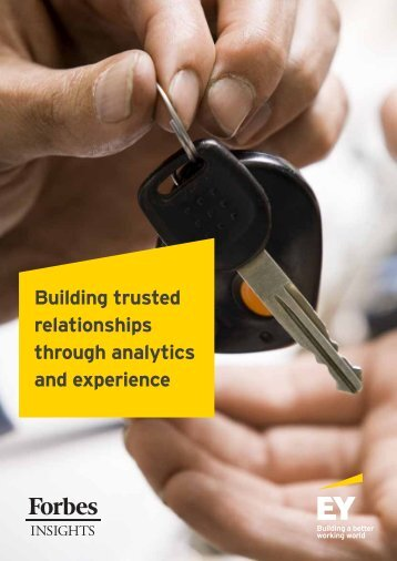 Building trusted relationships through analytics and experience