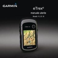 Garmin eTrex® 10 - Manuale Utente