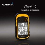 Garmin eTrex® 10 - Manuale di avvio rapido
