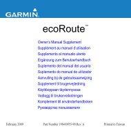 Garmin nuvi 755T - ecoRoute Supplemento