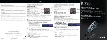 Garmin GPSMAP® 7212 - Remote Control Instructions (multilingual)