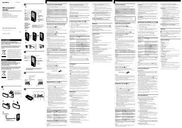 Sony M-470 - M-470 Consignes d'utilisation Néerlandais