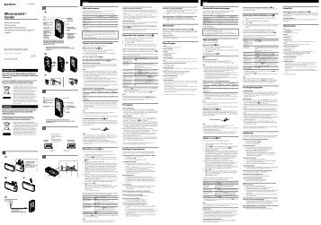 Sony M-470 - M-470 Consignes d'utilisation Portugais