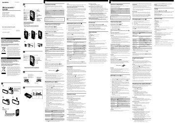 Sony M-575V - M-575V Consignes d'utilisation Polonais