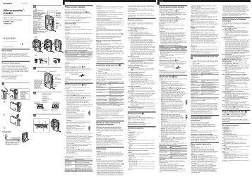 Sony M-800V - M-800V Consignes d'utilisation Slovaque