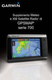 Garmin GPSMAP 750 - Supplemento