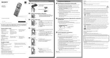 Sony ICD-UX533F - ICD-UX533F Guide de mise en route Finlandais