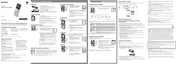 Sony ICD-UX543 - ICD-UX543 Mode d'emploi Bulgare
