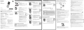 Sony ICD-UX543 - ICD-UX543 Mode d'emploi Slovénien