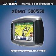 Garmin zumo500,Intl,UK & Ireland Dlx,GPS - Manuale del produttore