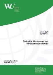 Ecological Macroeconomics Introduction and Review ECOLOGICAL ECONOMICS