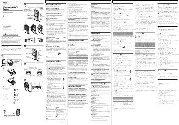 Sony M-730V - M-730V Consignes d'utilisation Hongrois