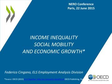 SOCIAL MOBILITY AND ECONOMIC GROWTH*