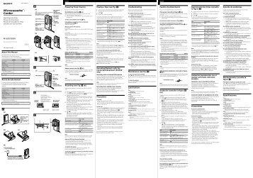 Sony M-560V - M-560V Consignes d'utilisation Portugais